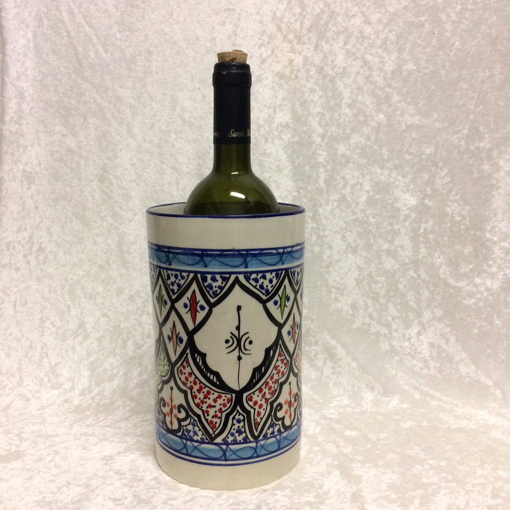 Tunisian Ceramic Wine Cooler / Utensil Holder