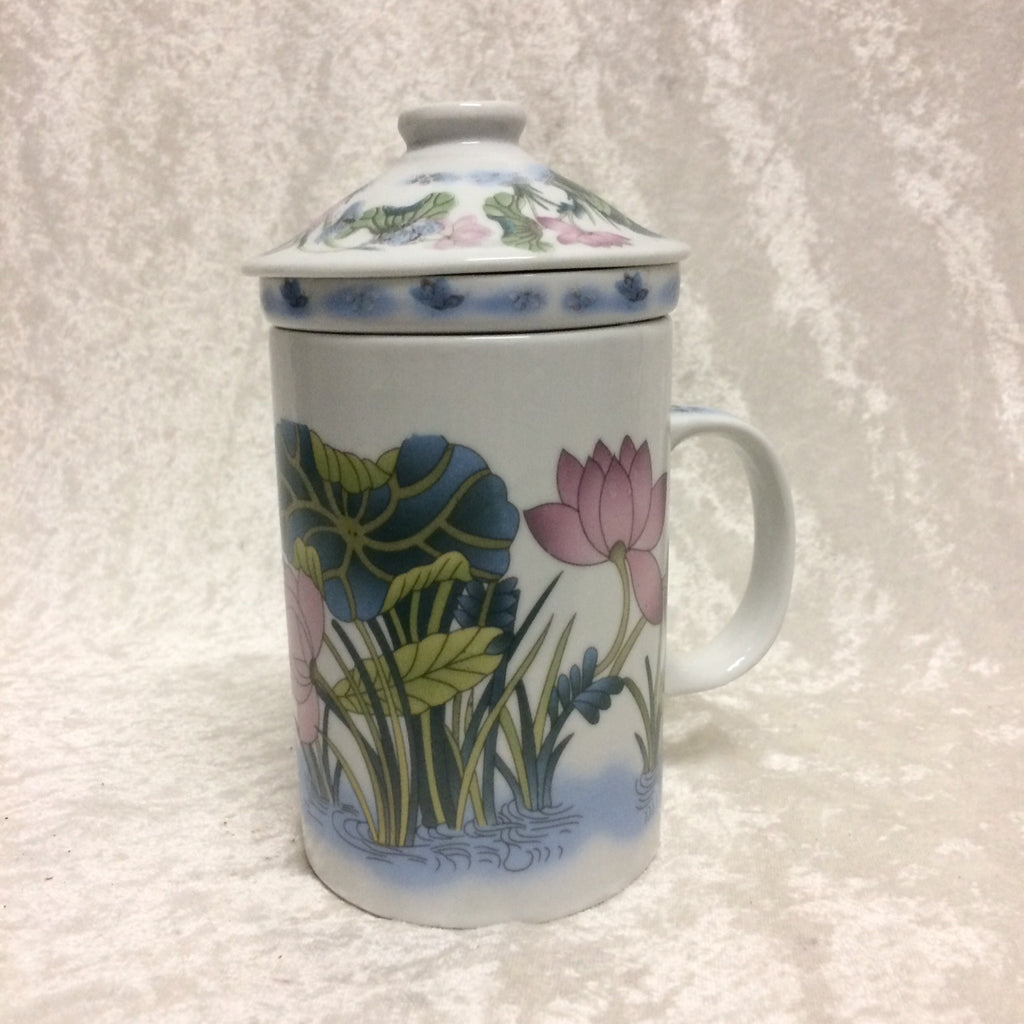 Butterfly & Lotus Tea Mug