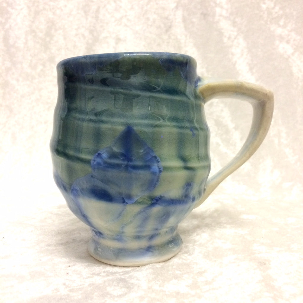 Crystalline Porcelain Ribbed Mug
