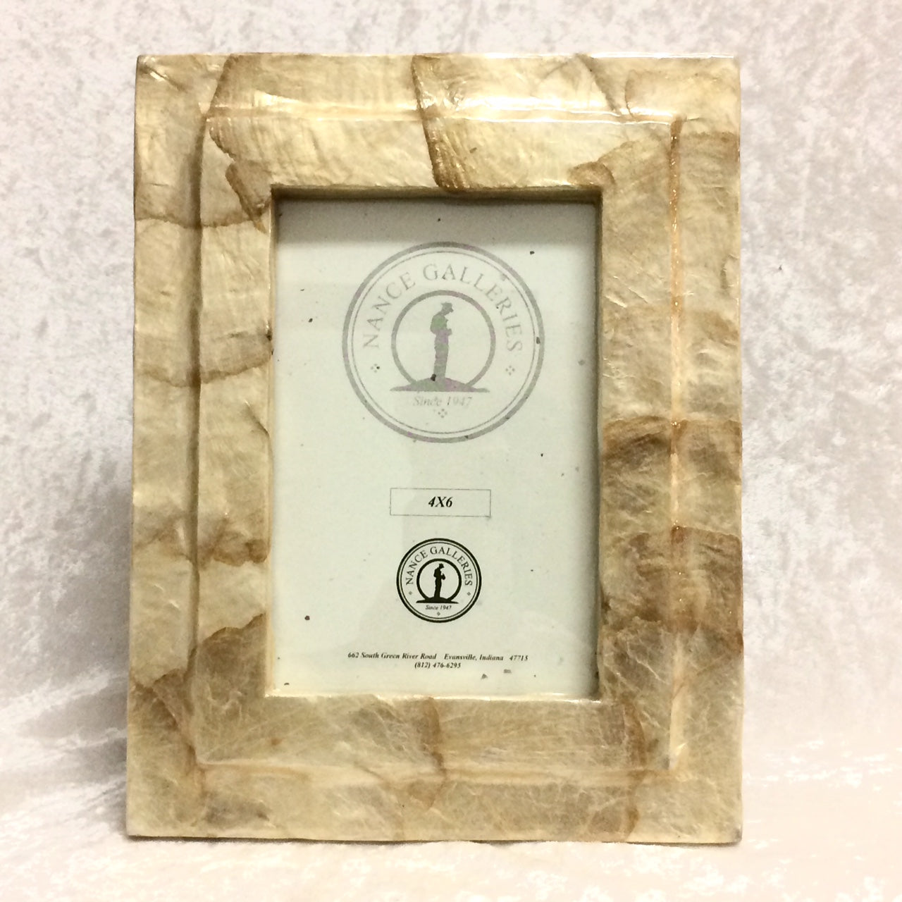 "Contemporary Capiz Shell Frame 4""X6"""