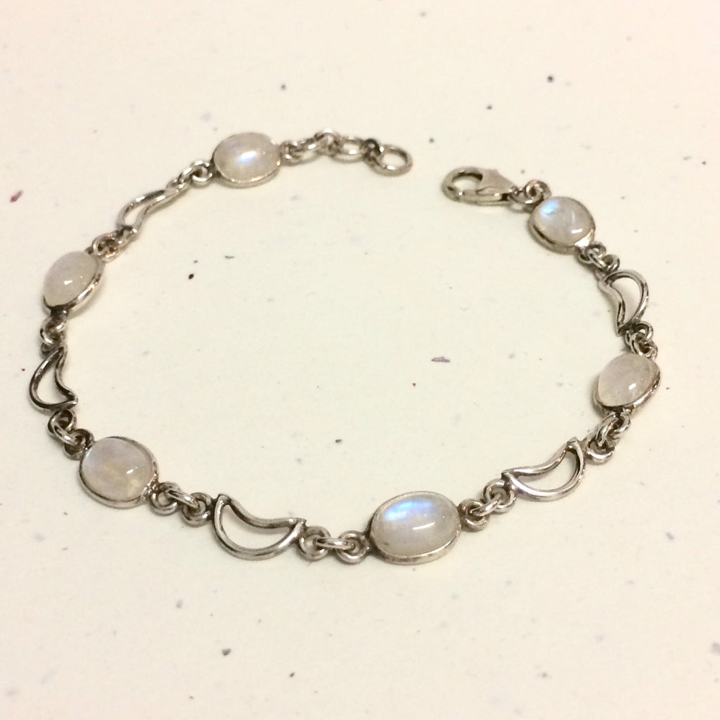 Crescent Moon Moonstone Bracelet