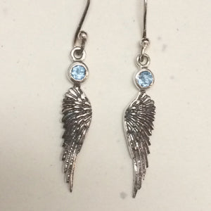 Topaz Angel Wing Earrings