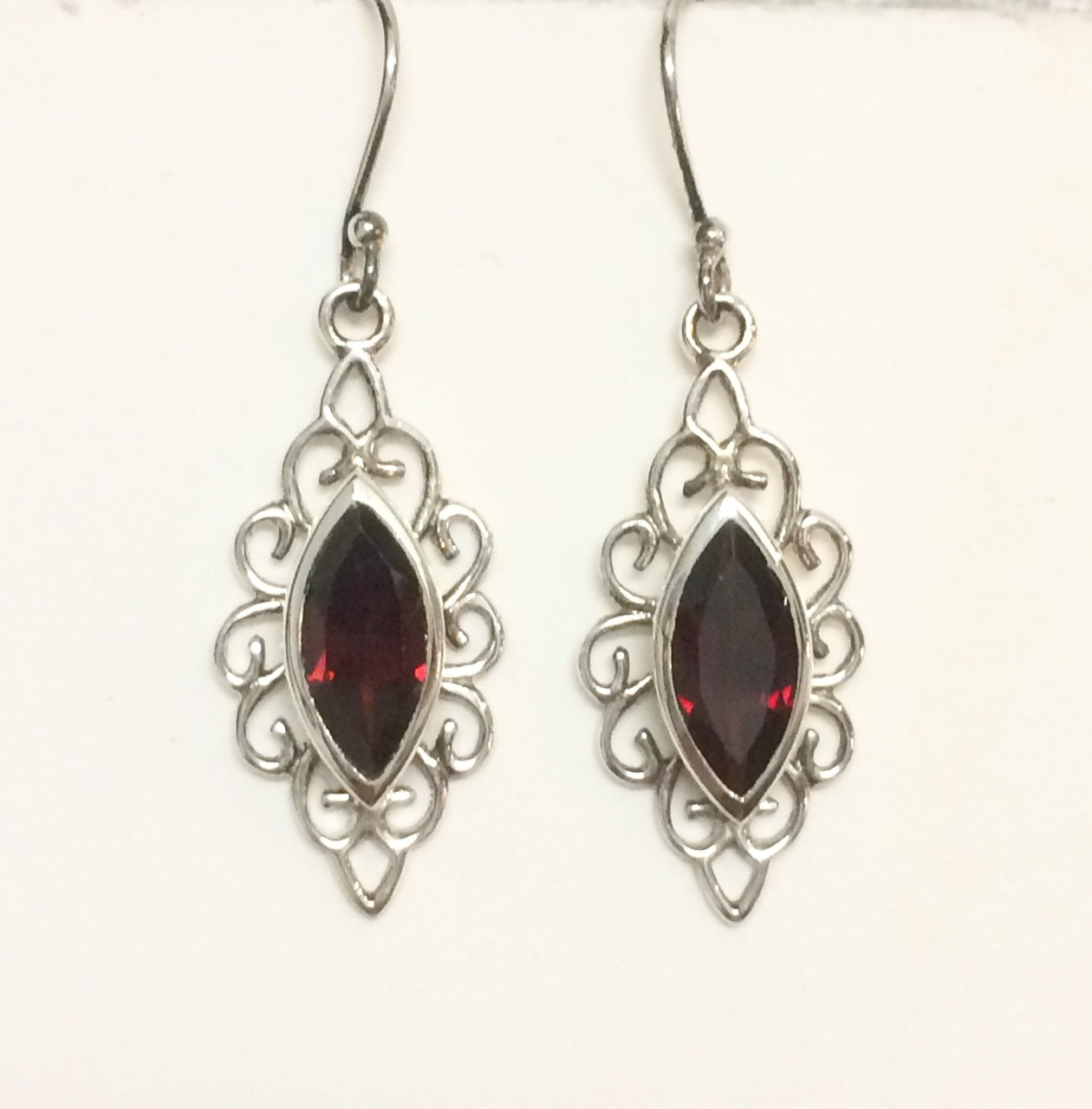 Garnet Marquise Earrings