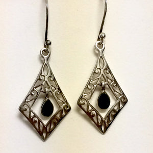 Geometric Emerald Earrings
