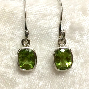Rectangular Peridot Earrings