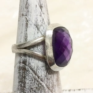 Contemporary Amethyst Ring