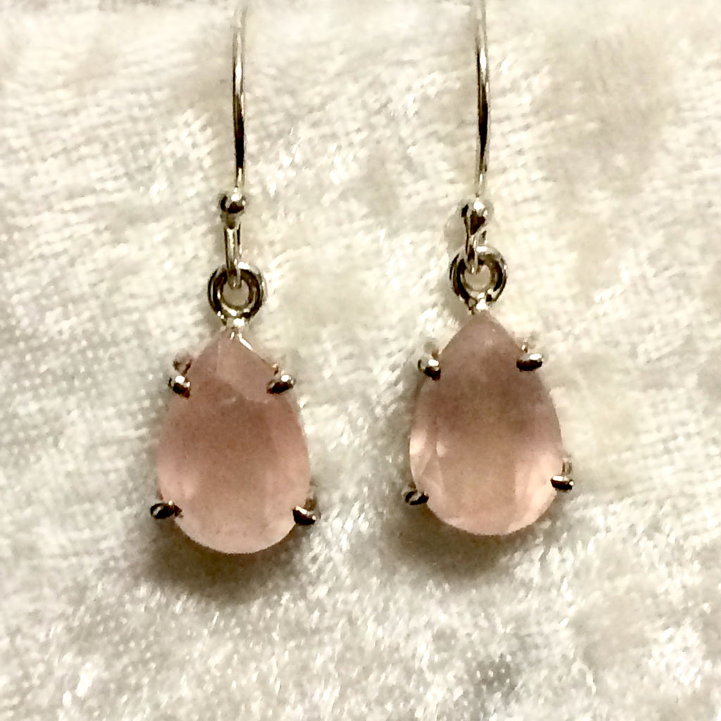 Oval Rose Quartz Earrings