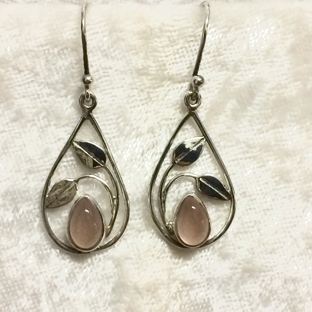 Nouveau Rose Quartz Earrings