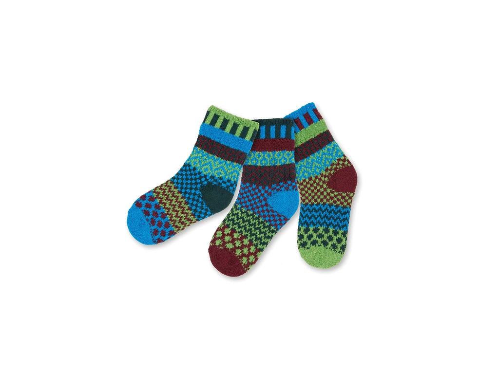 Solmate Socks Mismatched Kids June Bug
