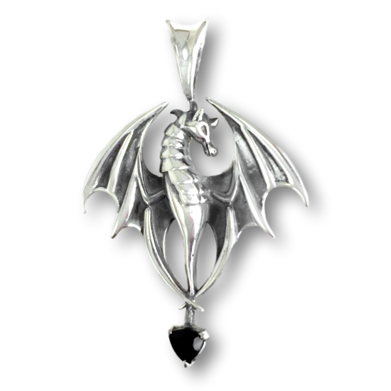 Onyx Dragon Pendant
