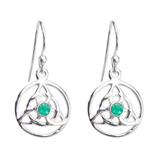 Emerald Trinity Earrings