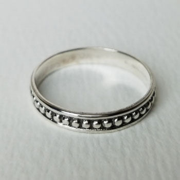 Beaded Sterling Ring