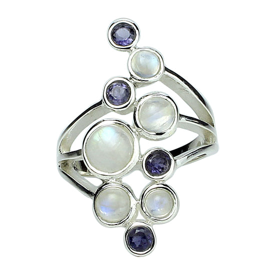 Moonstone & Iolite Ring