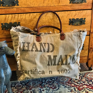Recycled Military Canvas Market Bag