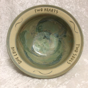 "Wedding Bowl ""Two Hearts"""