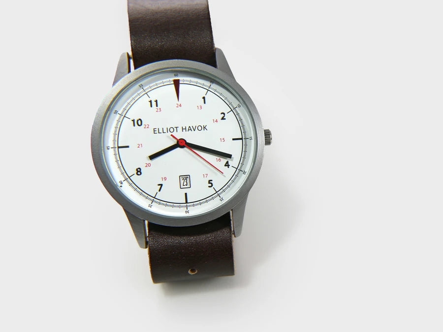 White Classic Watch - 39MM