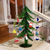 Blown Glass Christmas Tree With Ornaments
