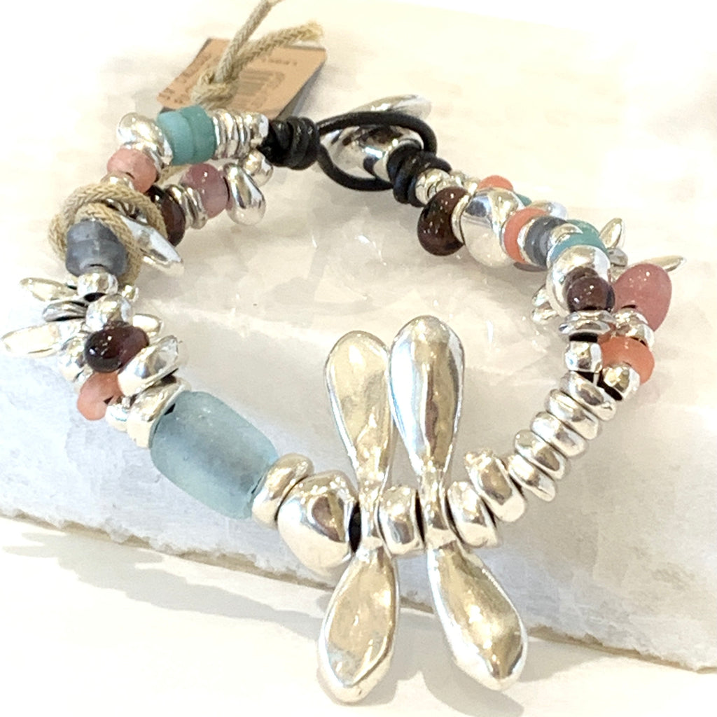 Uno de 50 All The Time Dragonfly Bracelet