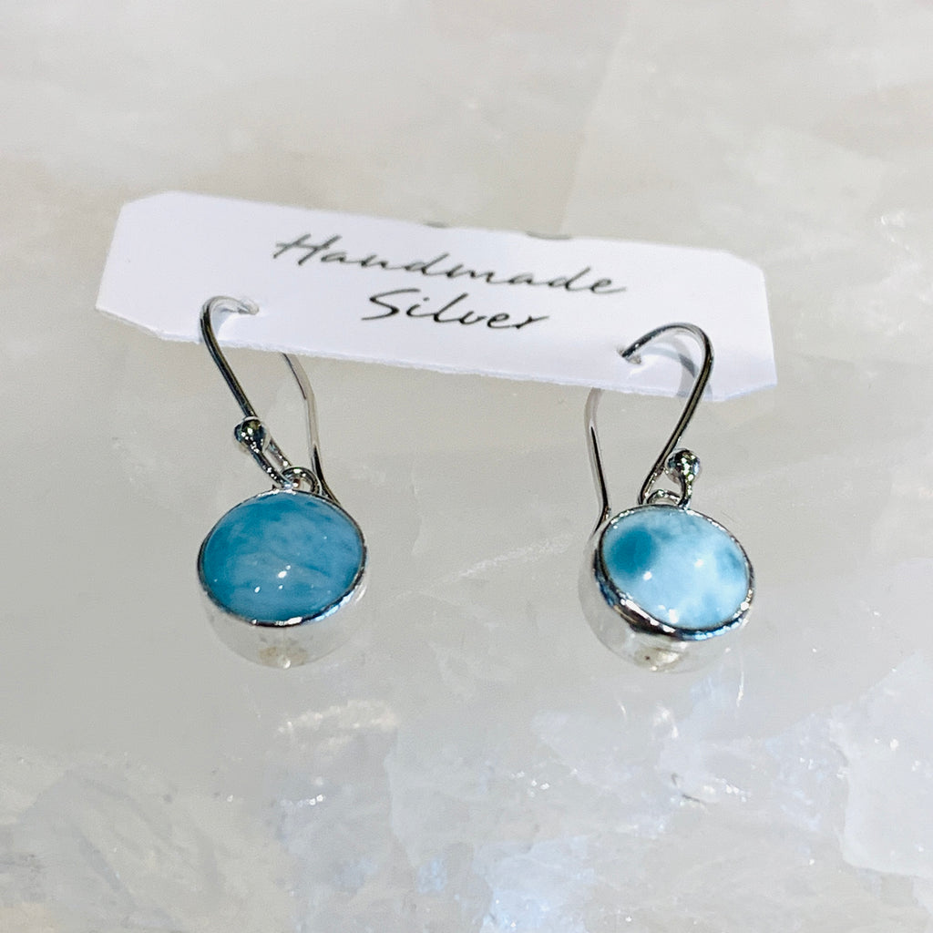 Larimar Drop Hook Earrings