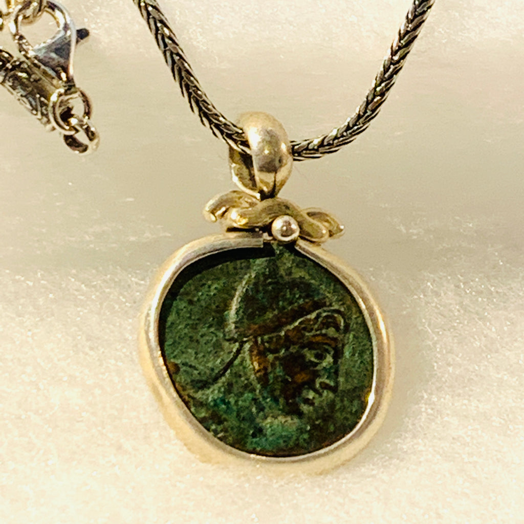 Head of Perseus Ancient Greek Coin Necklace