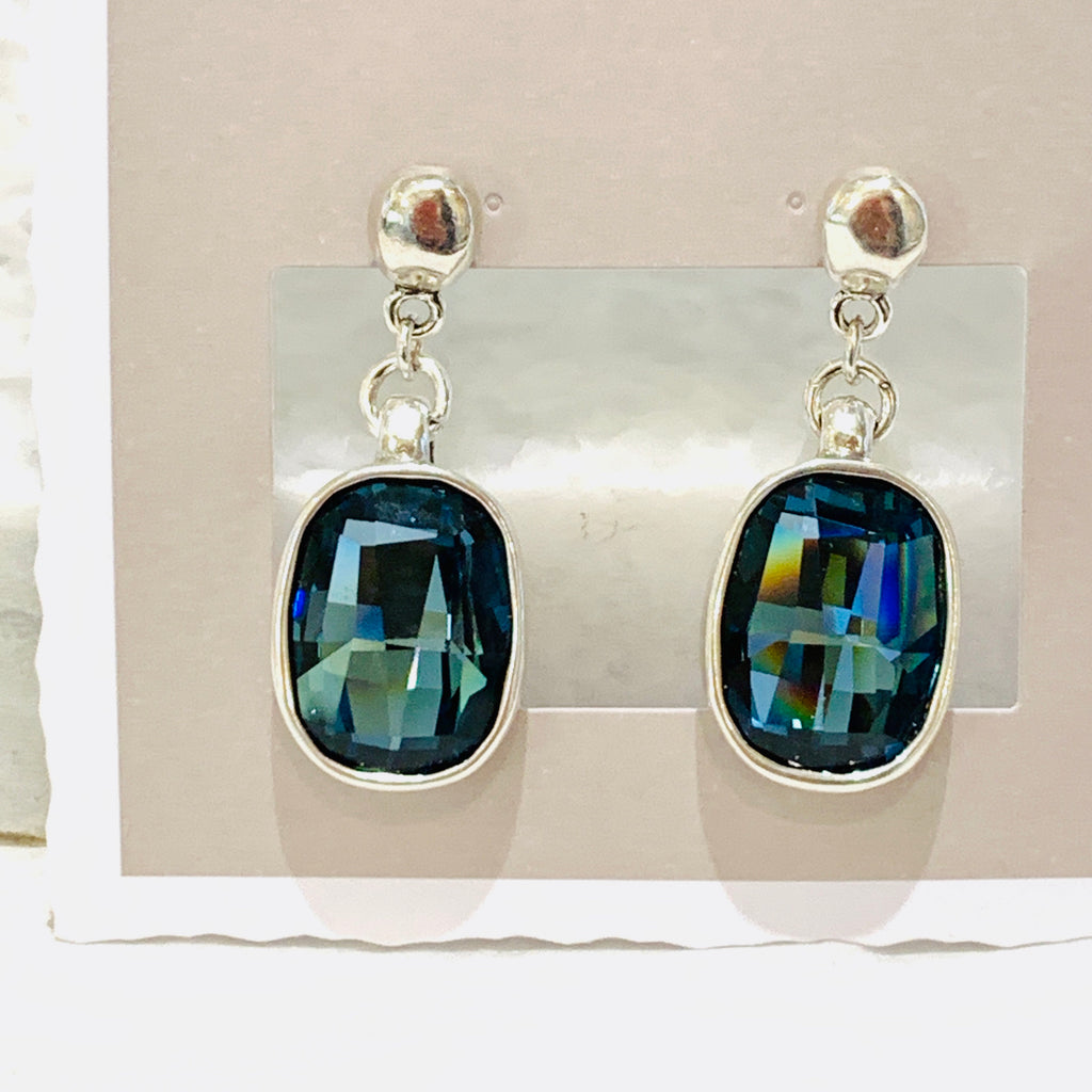 Uno de 50 Light it Up Blue Crystal Earrings