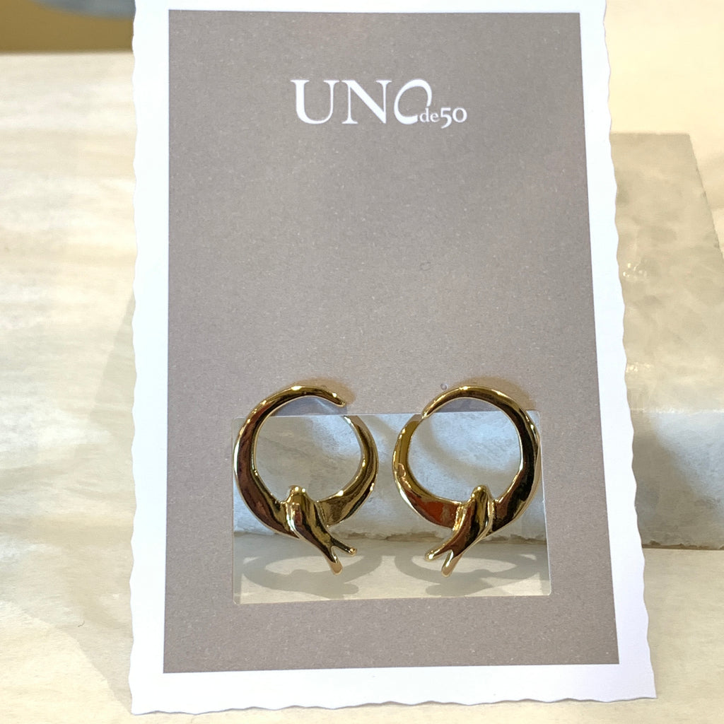 Uno de 50 Come Fly with Me Earrings Gold