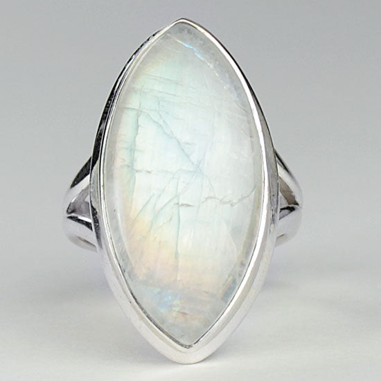 Marquise Moonstone Ring