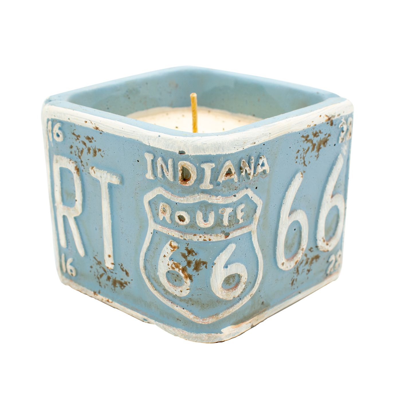 Indiana License Plate Candle - Rosted Espresso
