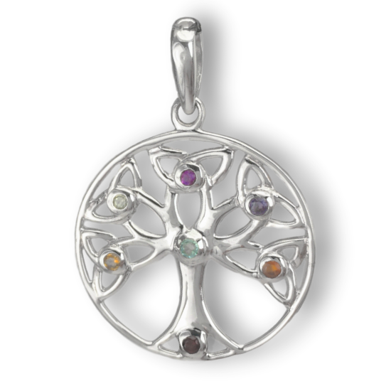 Tree of Life Chakra Circle Necklace