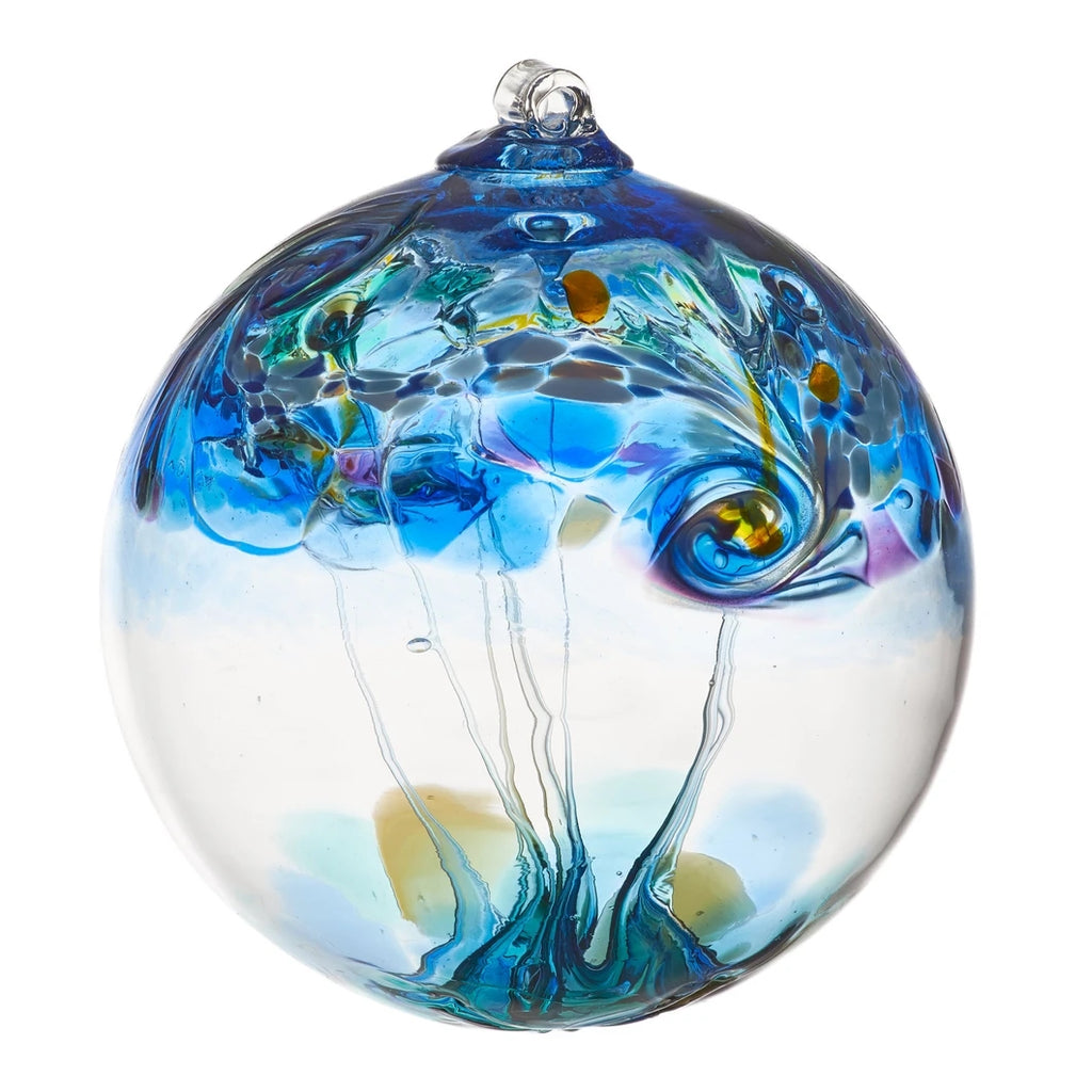 Element Art Glass Ornament - Water