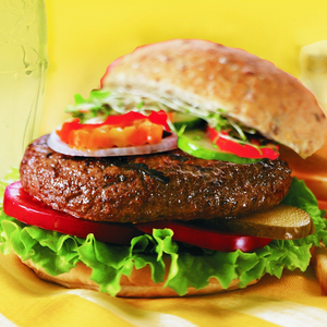 Licks Homeburgers® - This selection contains 12 vacuum sealed Canadian Angus Beef Burgers 5(¼) oz each