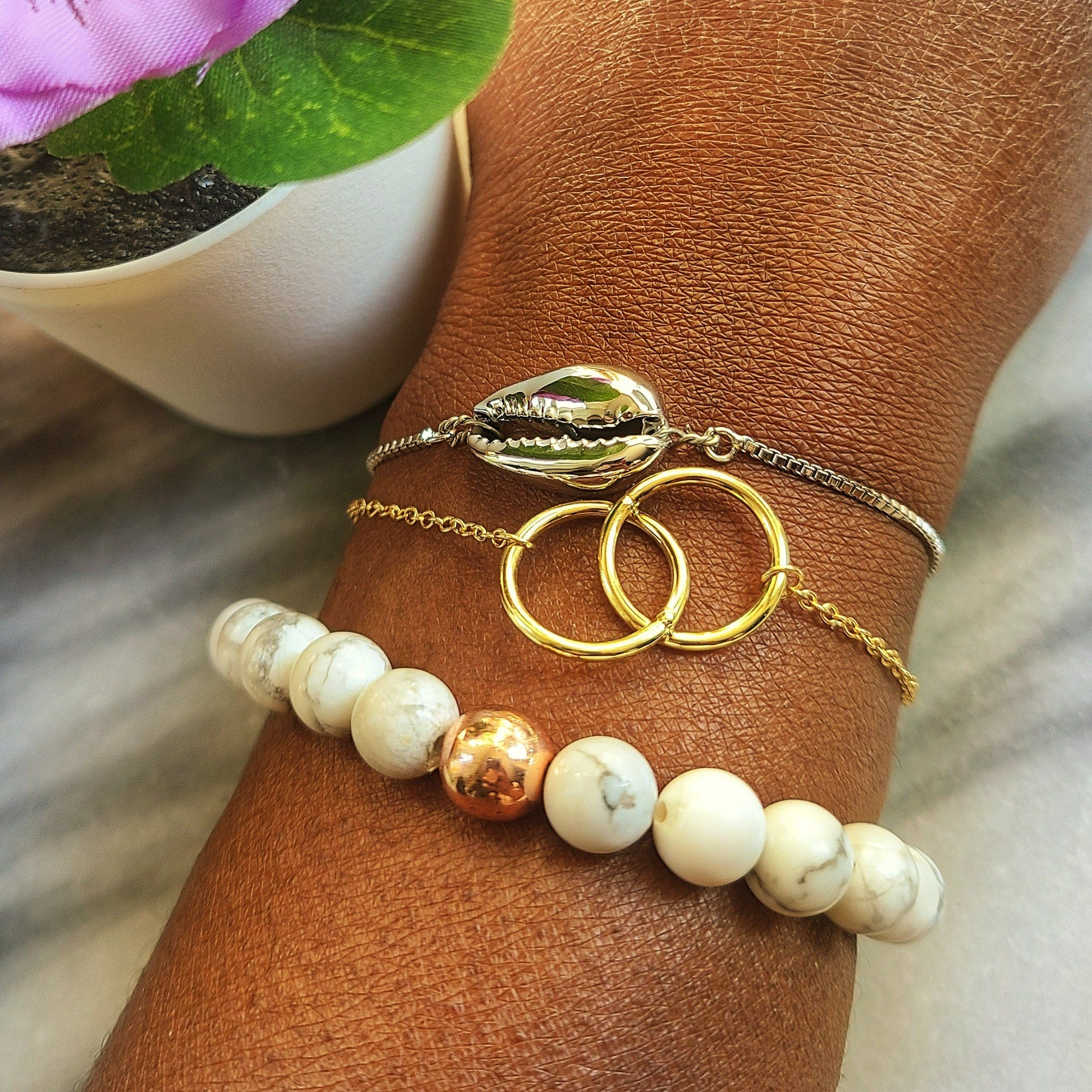 Creating a Stacked Bracelet Look