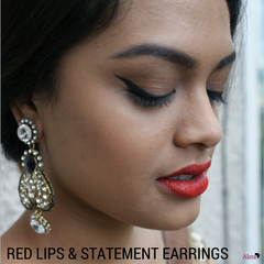 How to wear statement earrings picture from www.thedesidossier.com