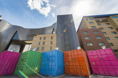 east village shipping containers