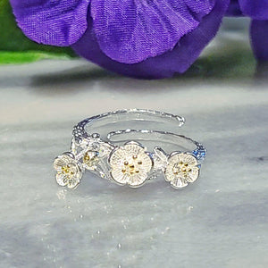 Silver Flower Minimalist Ring - Alora Boutique