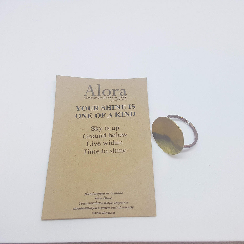 The Journey | Circle Ring | Brass - Alora Boutique