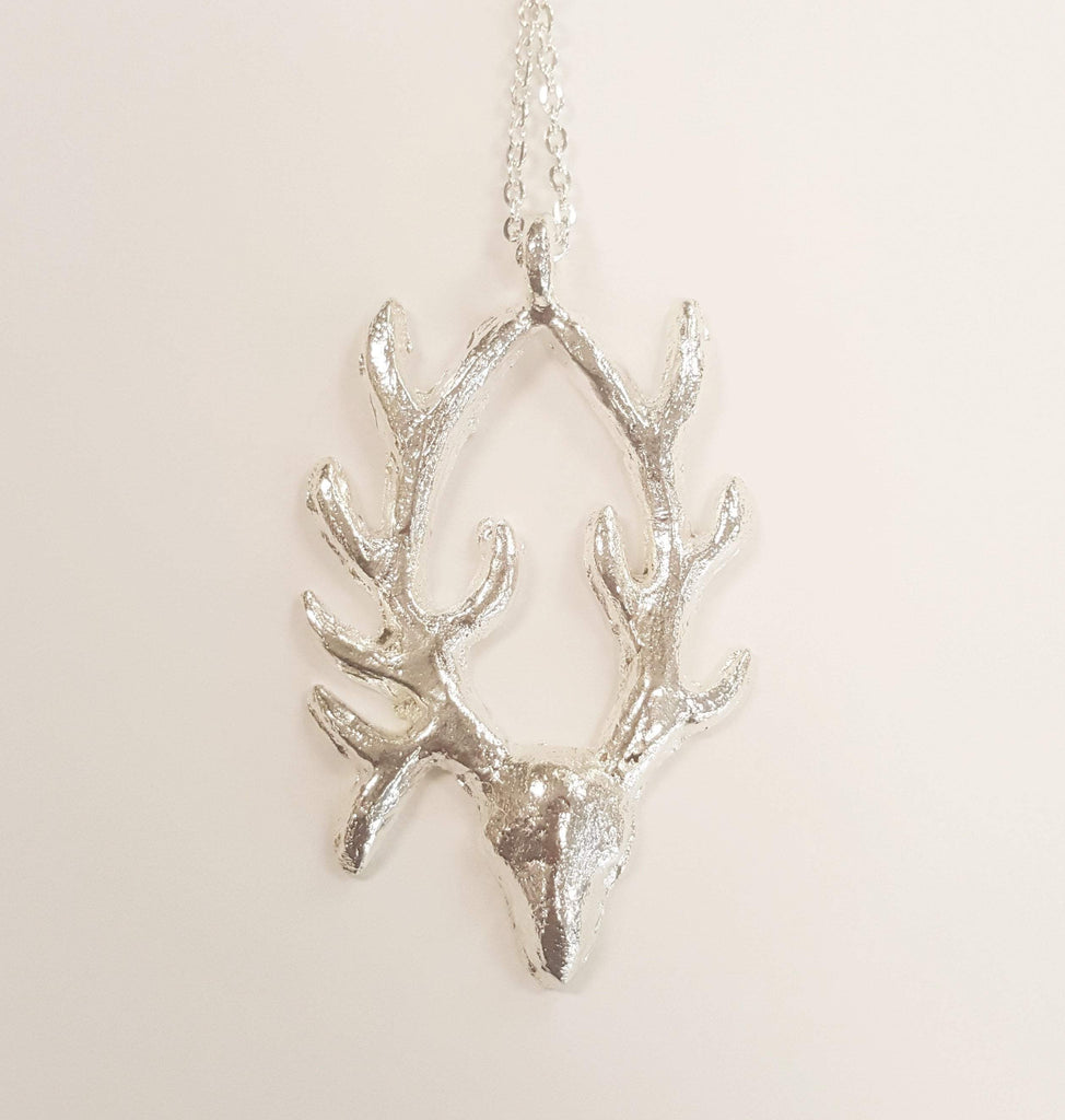 Antelope Pendant Necklace | Recycled Silver | Large