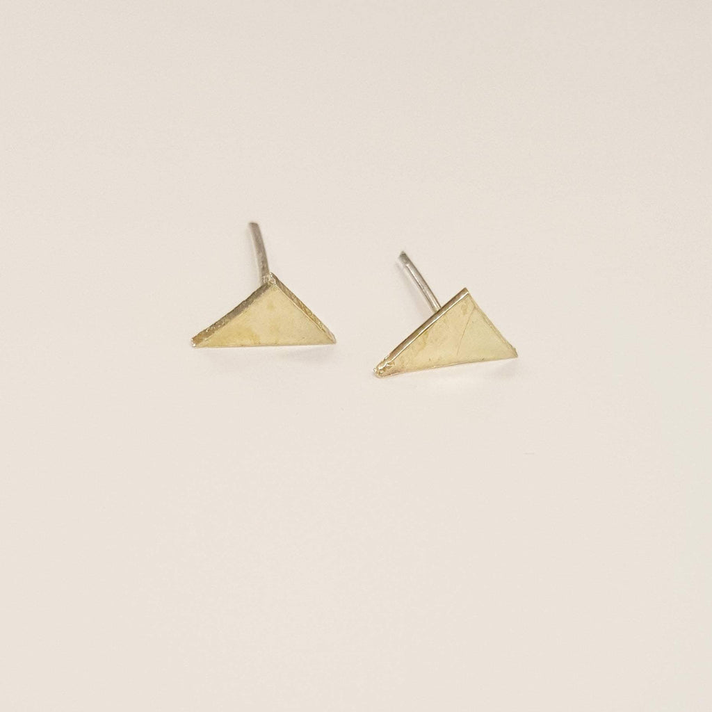 Triangle Stud Earrings | Brass