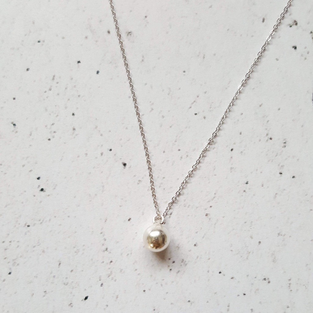Circle of Life | Delicate Sphere Pendant Necklace | Sterling Silver
