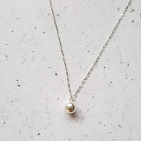 Circle of Life | Delicate Sphere Pendant Necklace | Sterling Silver - Alora Boutique