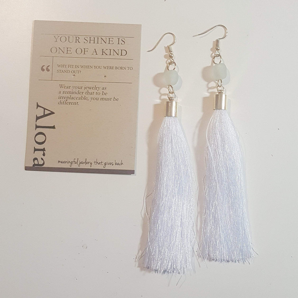 Your Shine is One of a Kind | Fringe Dangle Earrings | Snow White
