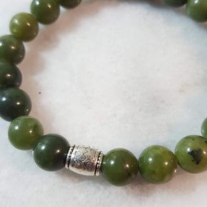 Unakite Gemstone Beaded Stretch Bracelet | Energy, Balance and Nurturing bracelets Alora Boutique