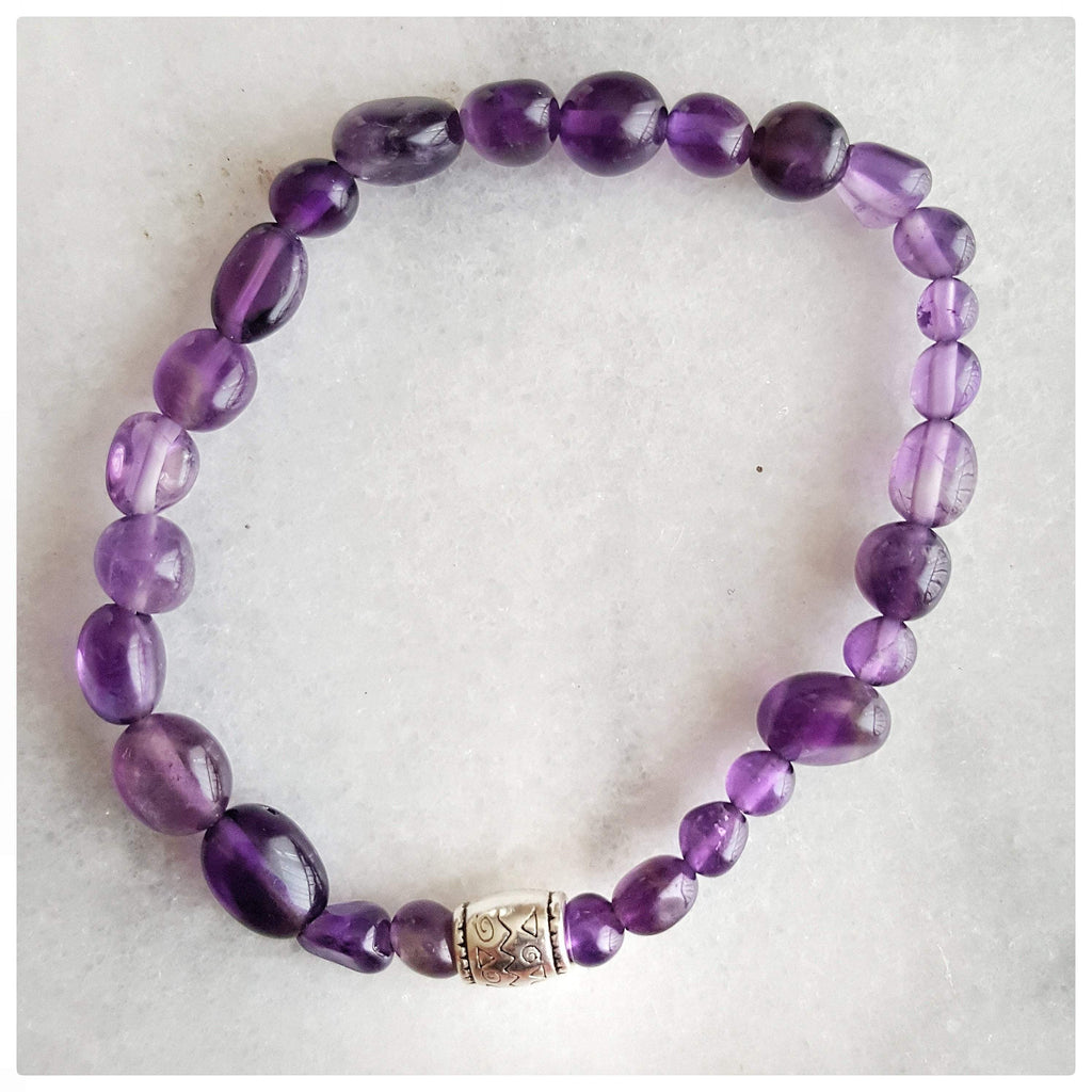 "Vivine ""Awareness, Honesty and Inspiration"" Simple Beaded Amethyst Gemstone"