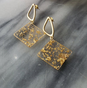 Serena - Resin Geometric Earrings Earrings Alora Boutique