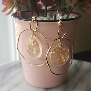 Serena - Resin Geometric Earrings Earrings Alora Boutique Circle
