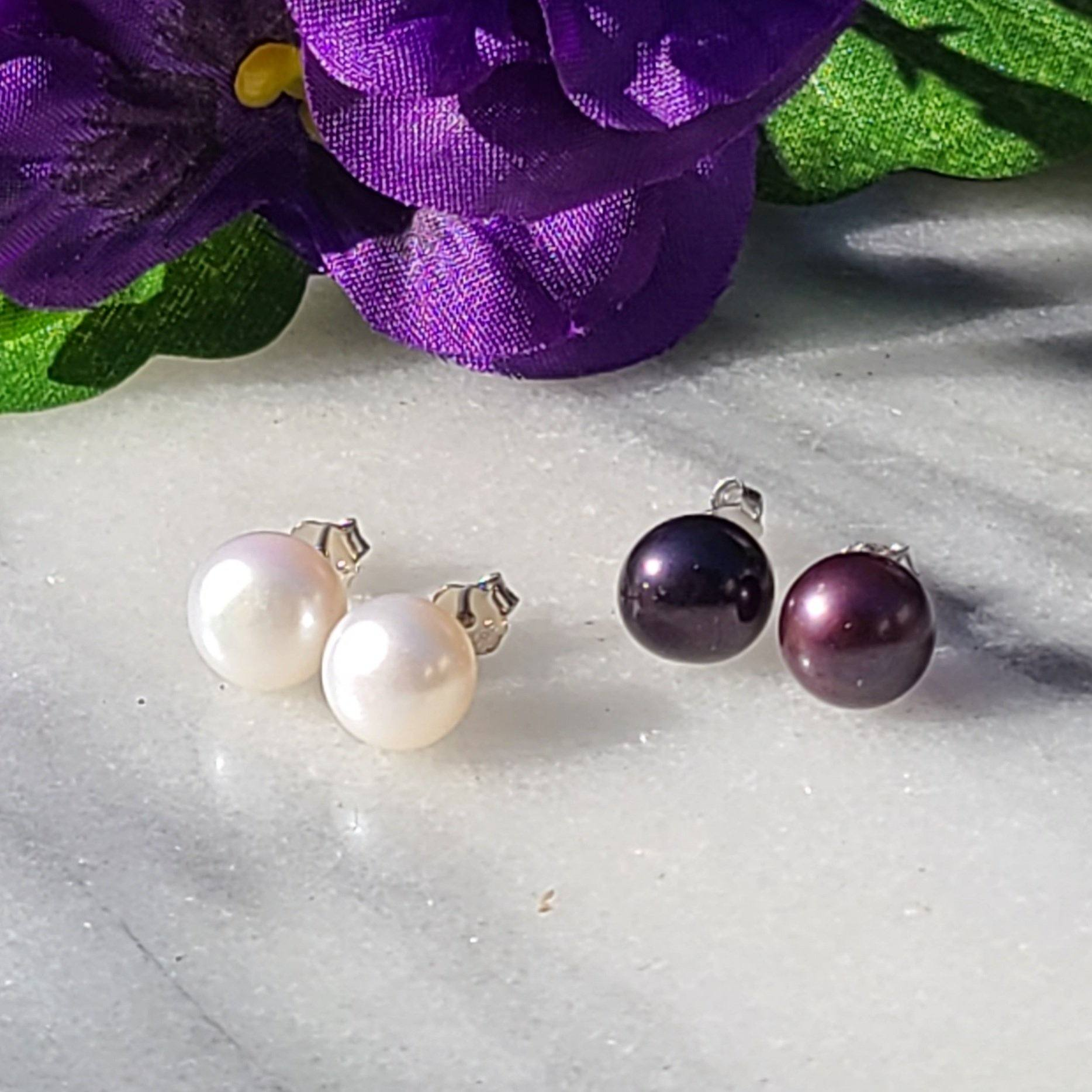 Pearl Stud Earrings Jewelry & Accessories - Earrings Alora Boutique