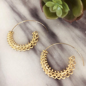 Karina Sprial Earrings Earrings Alora Boutique Spiral (Gold)