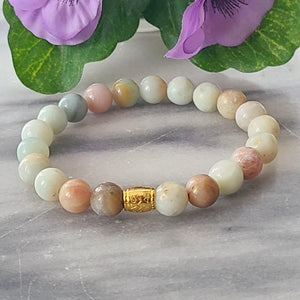 Amazonite Gemstone Bracelet | Courage, Compassion, Prosperity - Alora Boutique