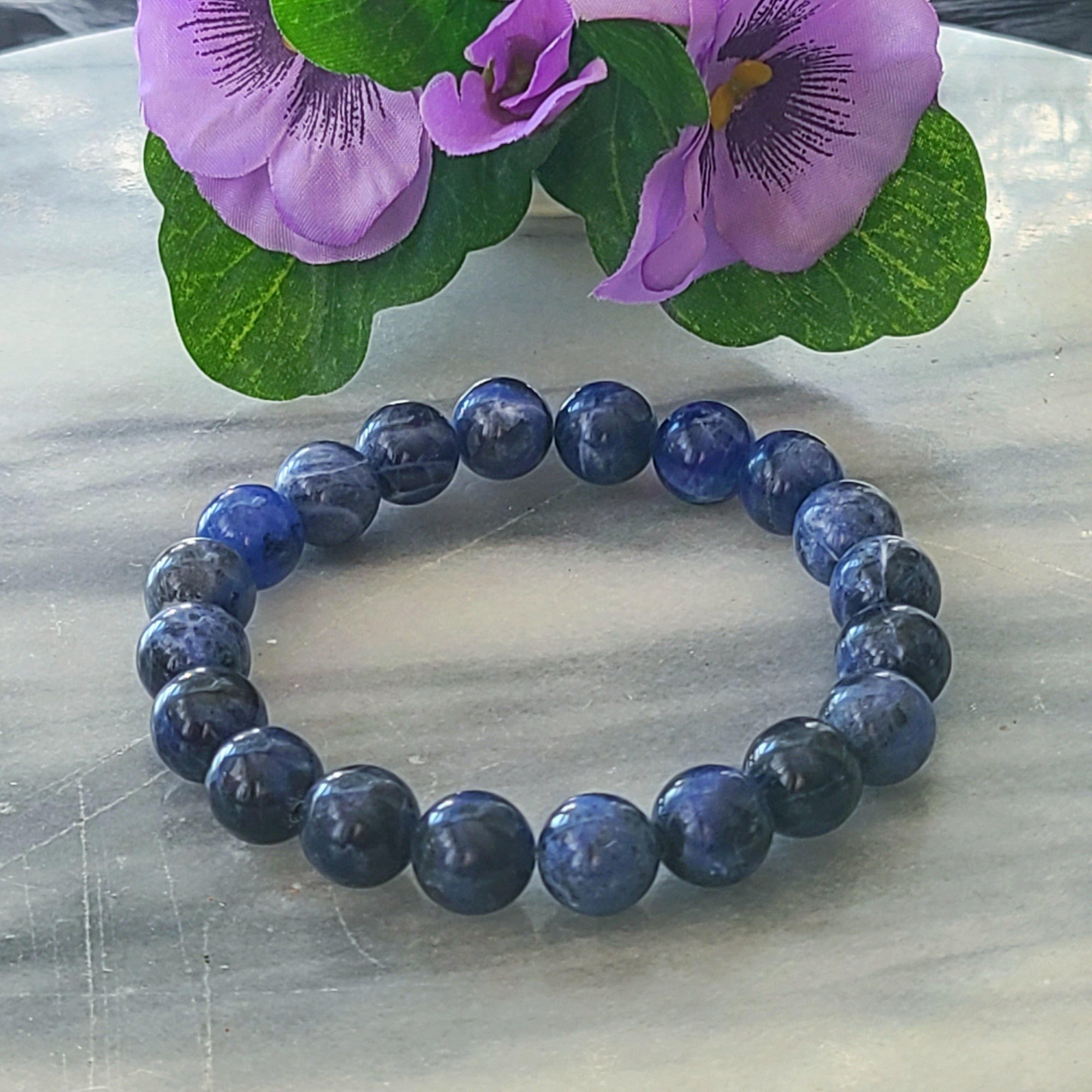 Wisdom, Truth, Self-awareness | Men's Beaded Stretch Bracelet | Lapis Lazuli Gemstone