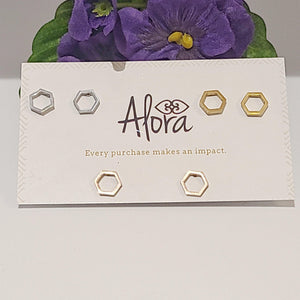 Mya - Minimalist Stud Earring Set - Alora Boutique